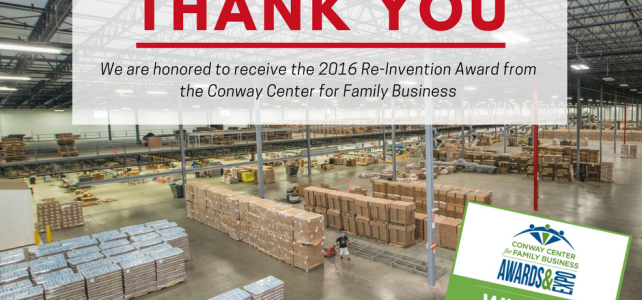 Accel Wins 2016 Conway Family Business Re-Invention Award
